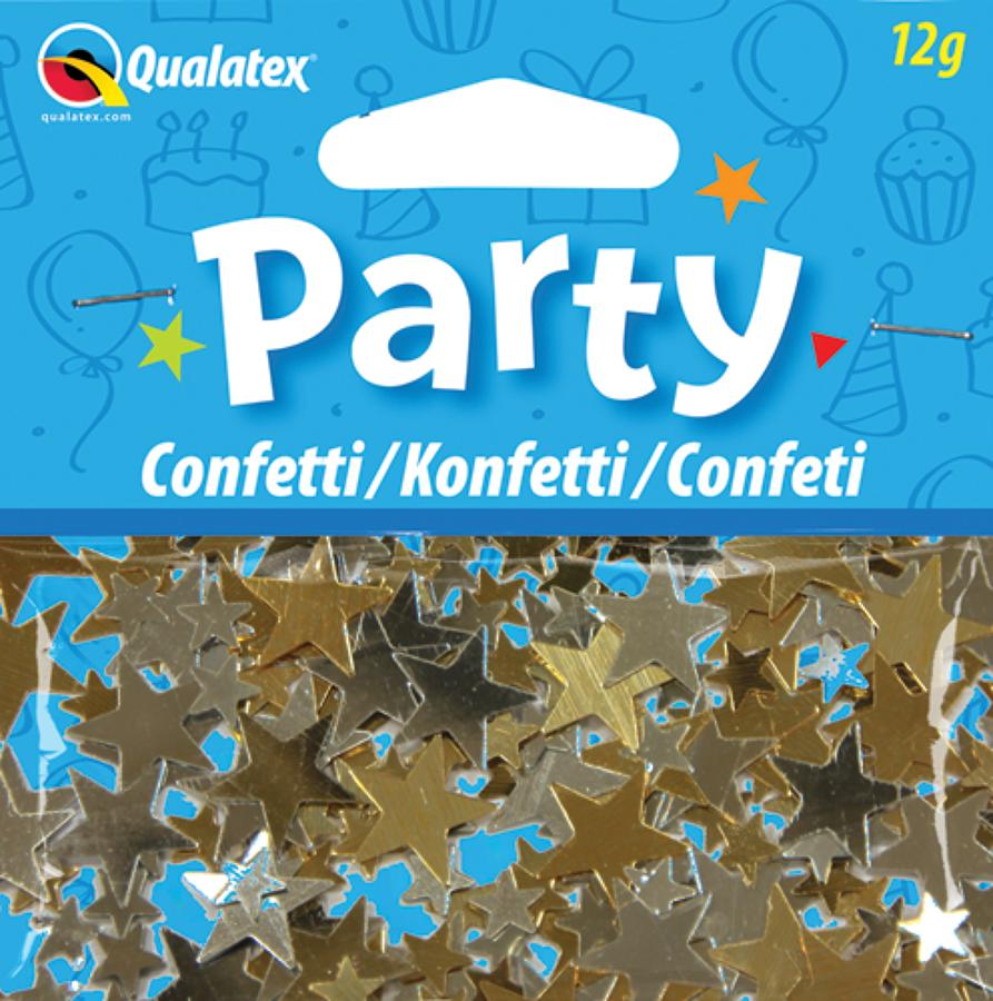 Gold and Silver Stars Confetti