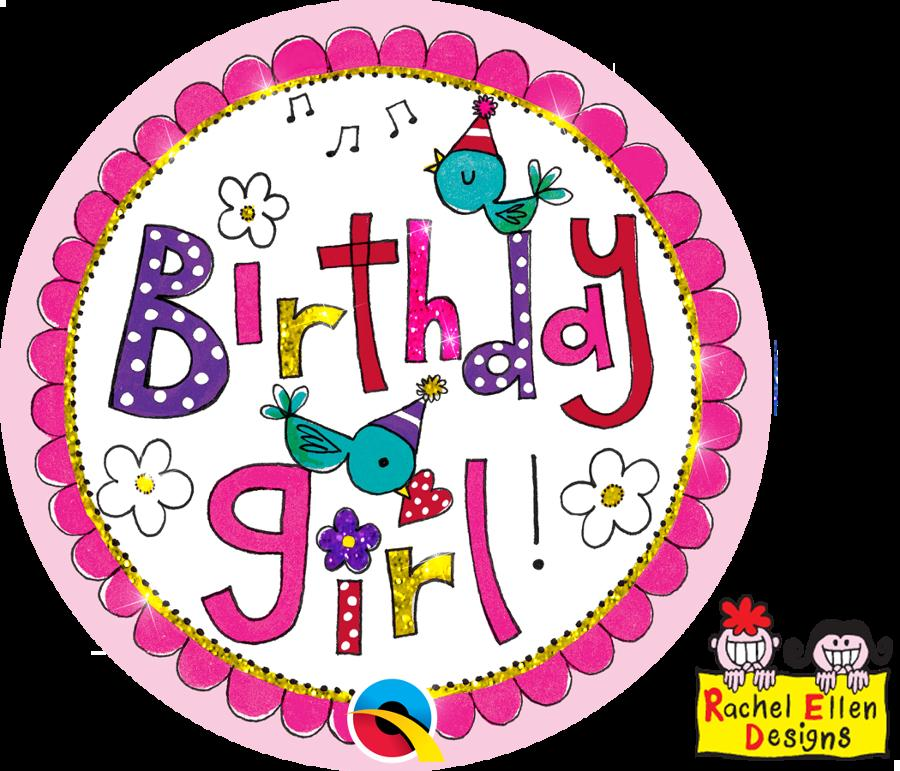 Birthday Girl Giant Badge