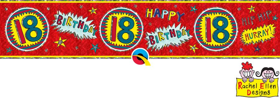 Age 18 WOW Birthday Banner
