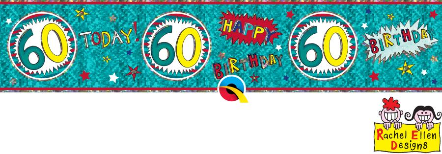 Age 60 WOW Birthday Banner