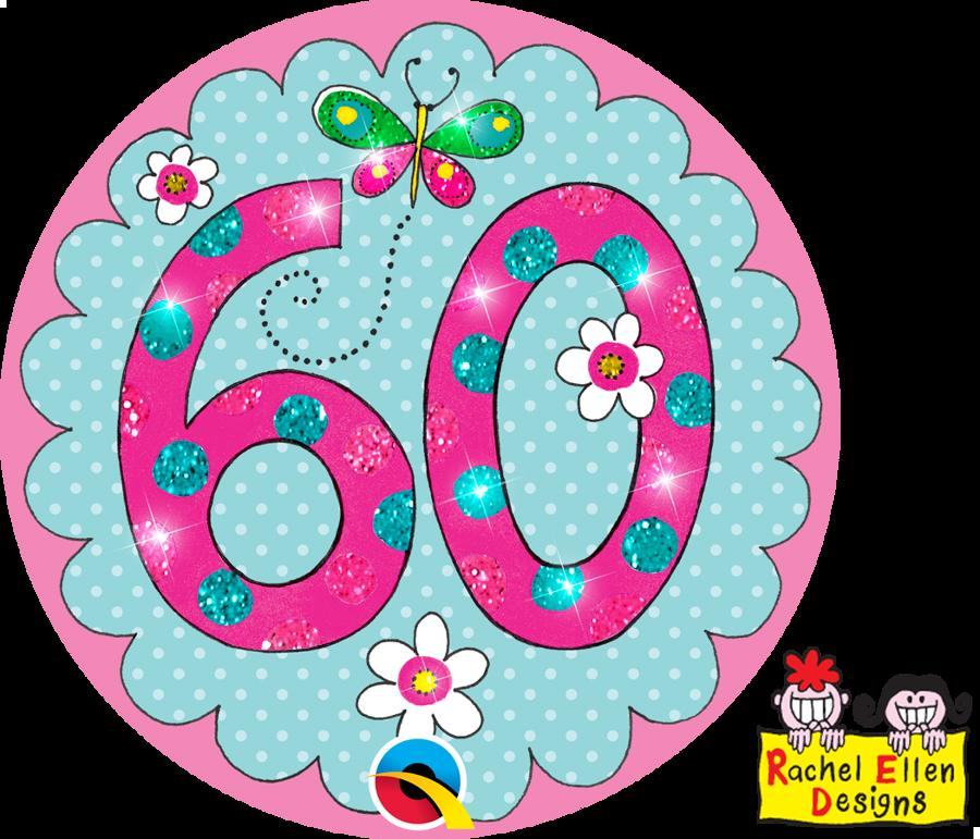 Age 60 Pink Giant Badge