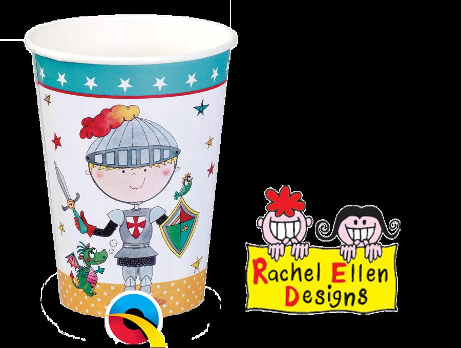 Knight paper party cups