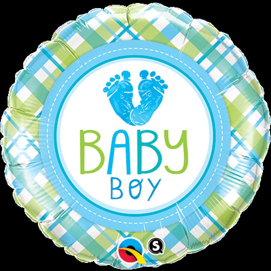 Baby boy feet foil balloon