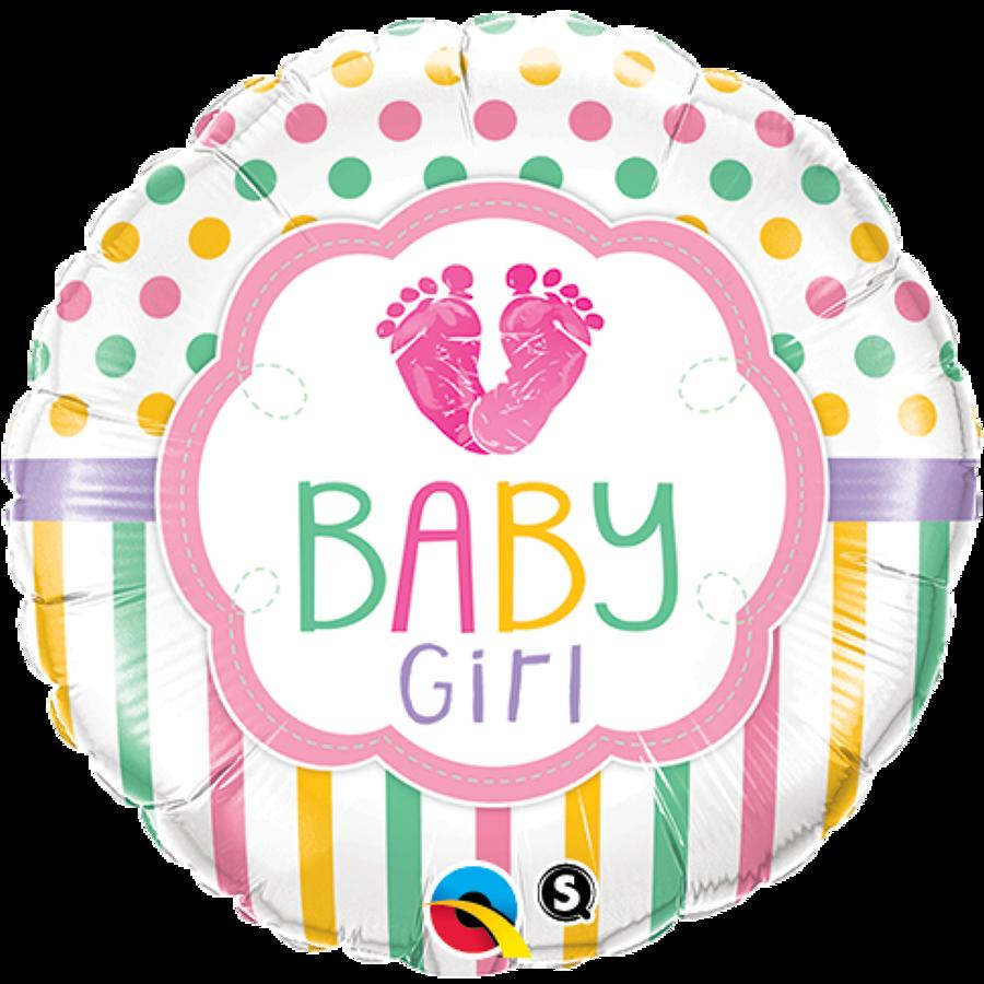 Baby girl feet foil balloon