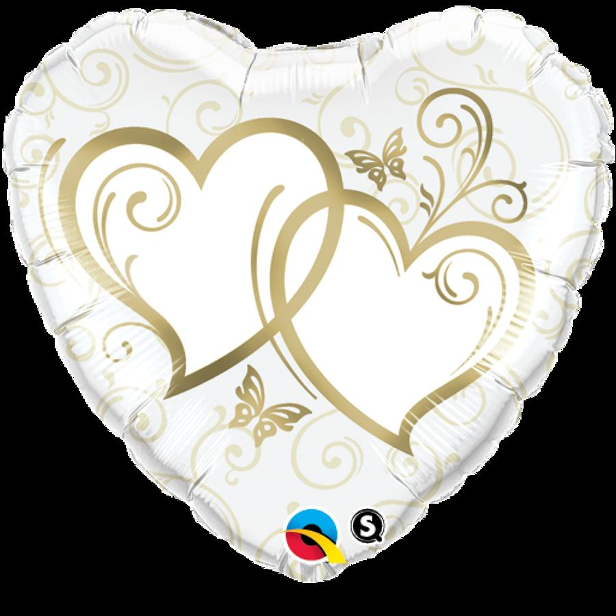 Entwined Hearts Gold Foil
