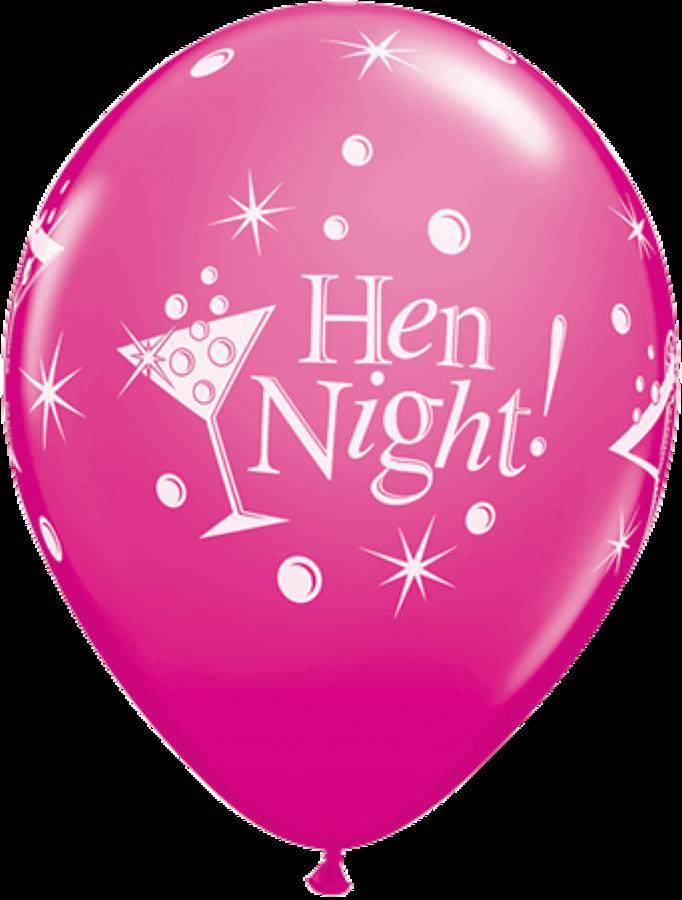 Hen night bubbly latex balloons