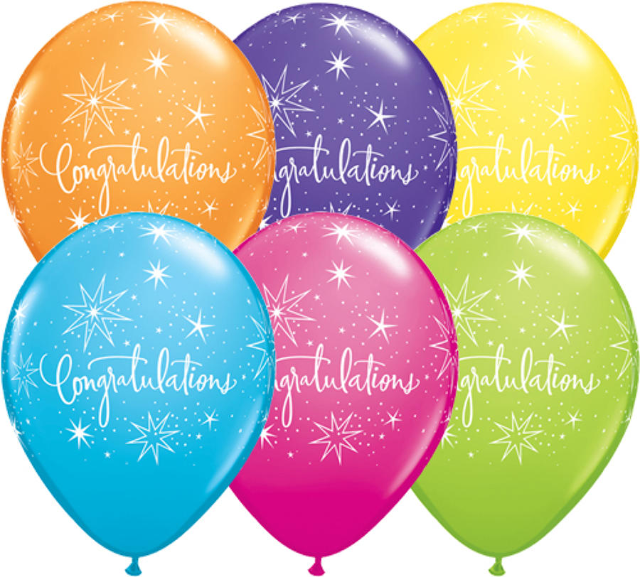 Congratulations latex balloons