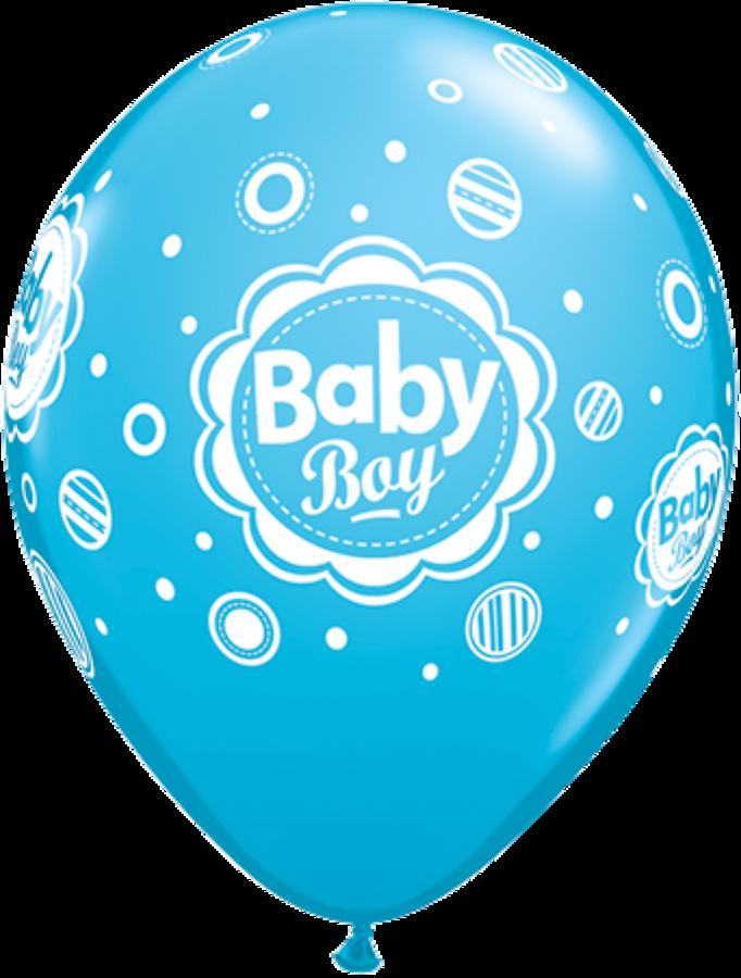 Baby Boy Dots Latex Balloons