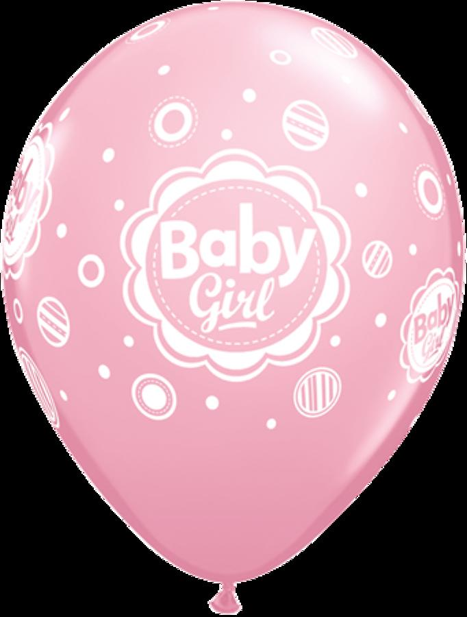 Baby Girl Dots Latex Balloons
