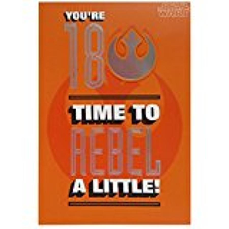 Age 18 Star Wars Birthday Card