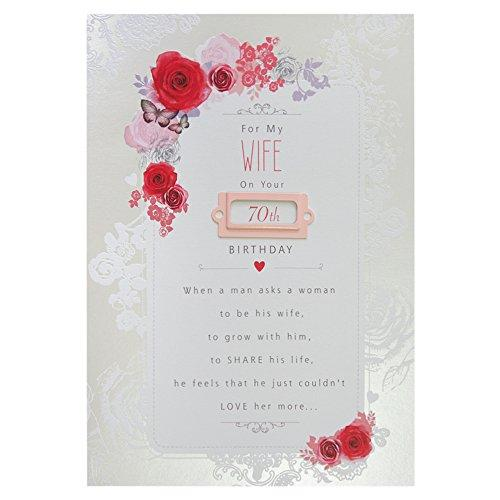 Wife 70th Birthday Card In Age Cards