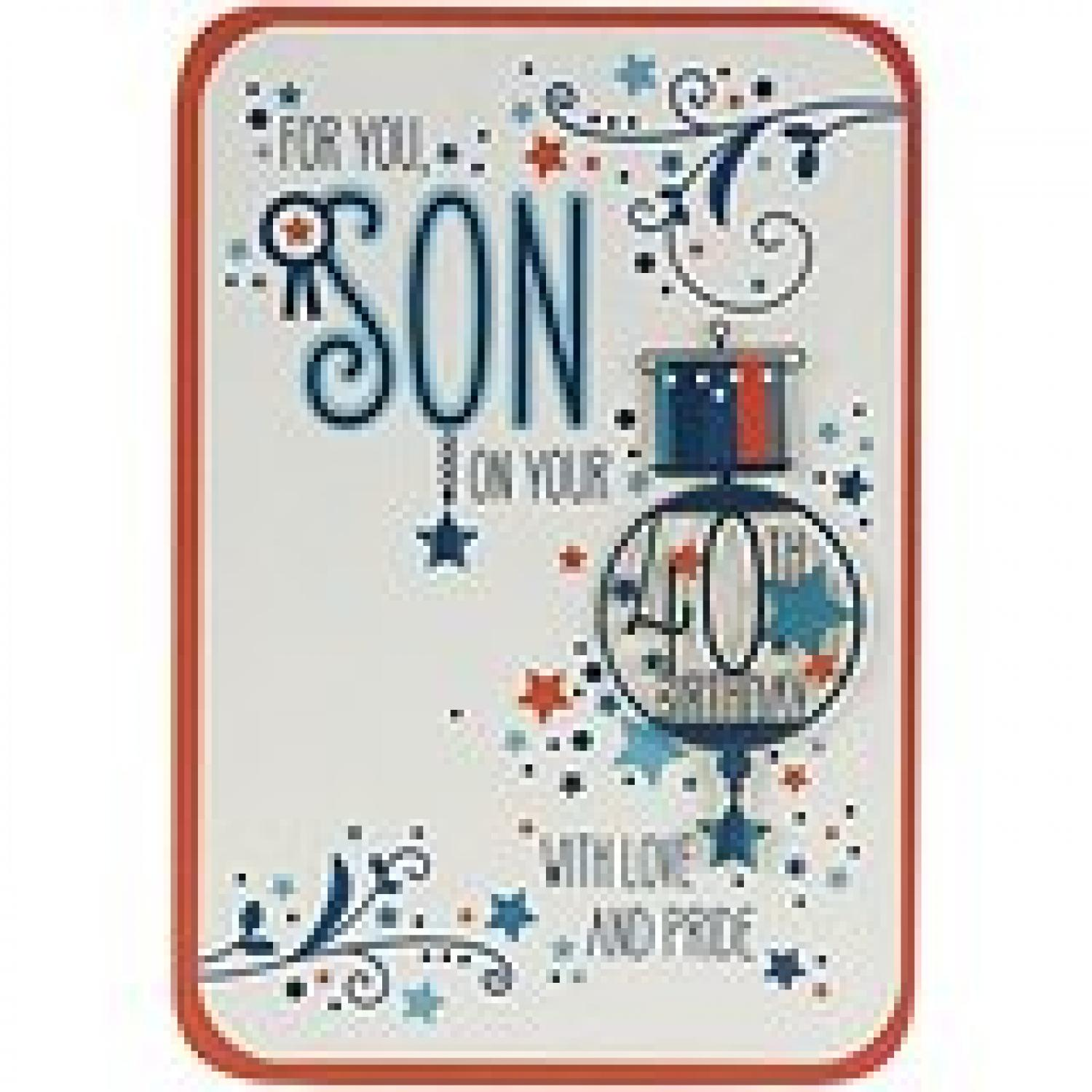 Son 40th Birthday In Age Cards