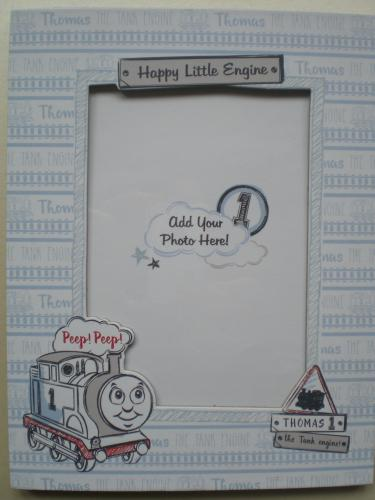 Happy little engine photo frame