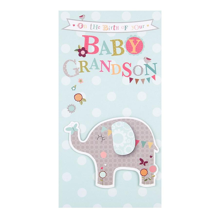 New baby grandson card