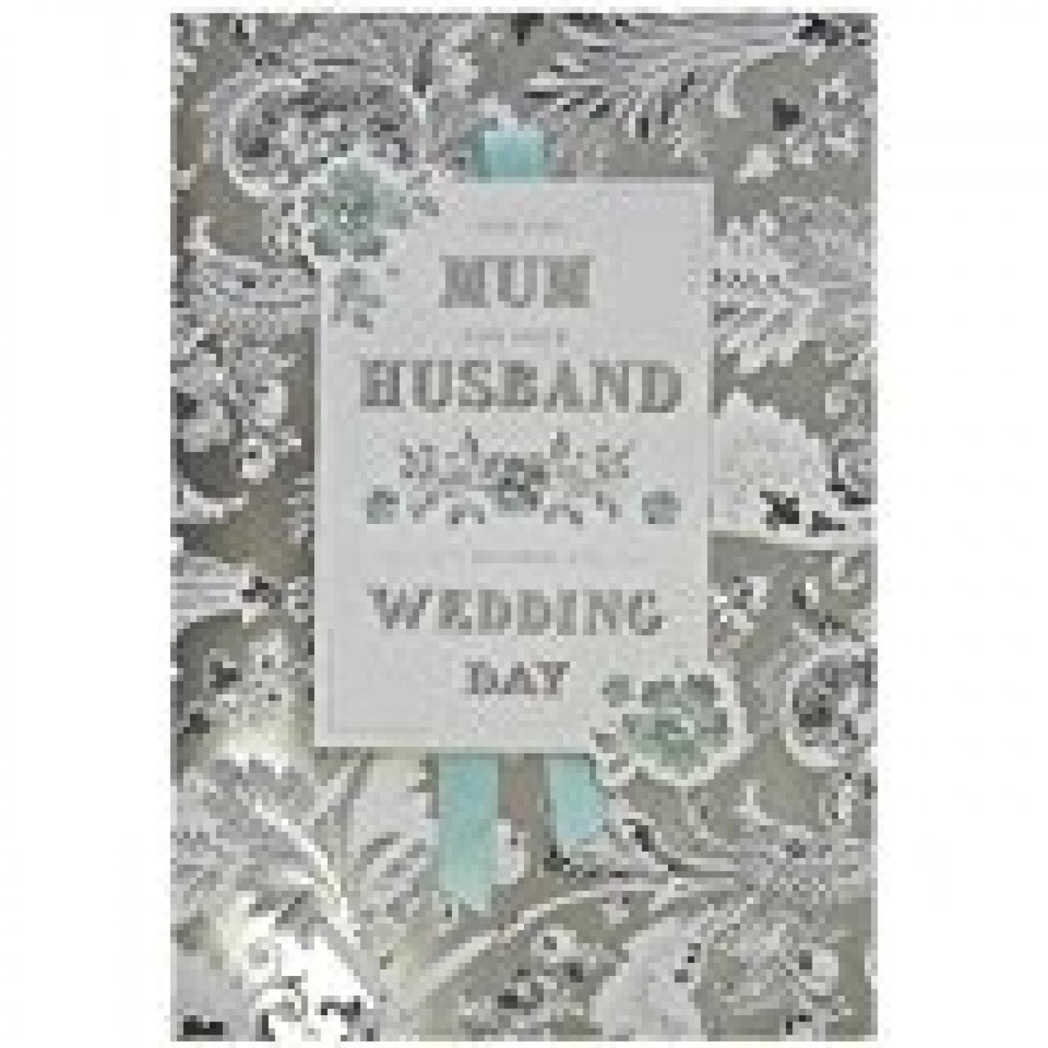 Mum and Husband wedding day card
