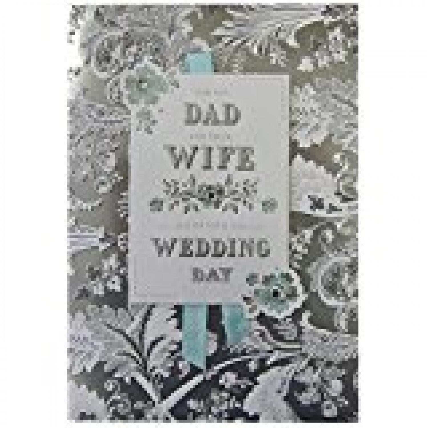 Dad and Wife wedding day card