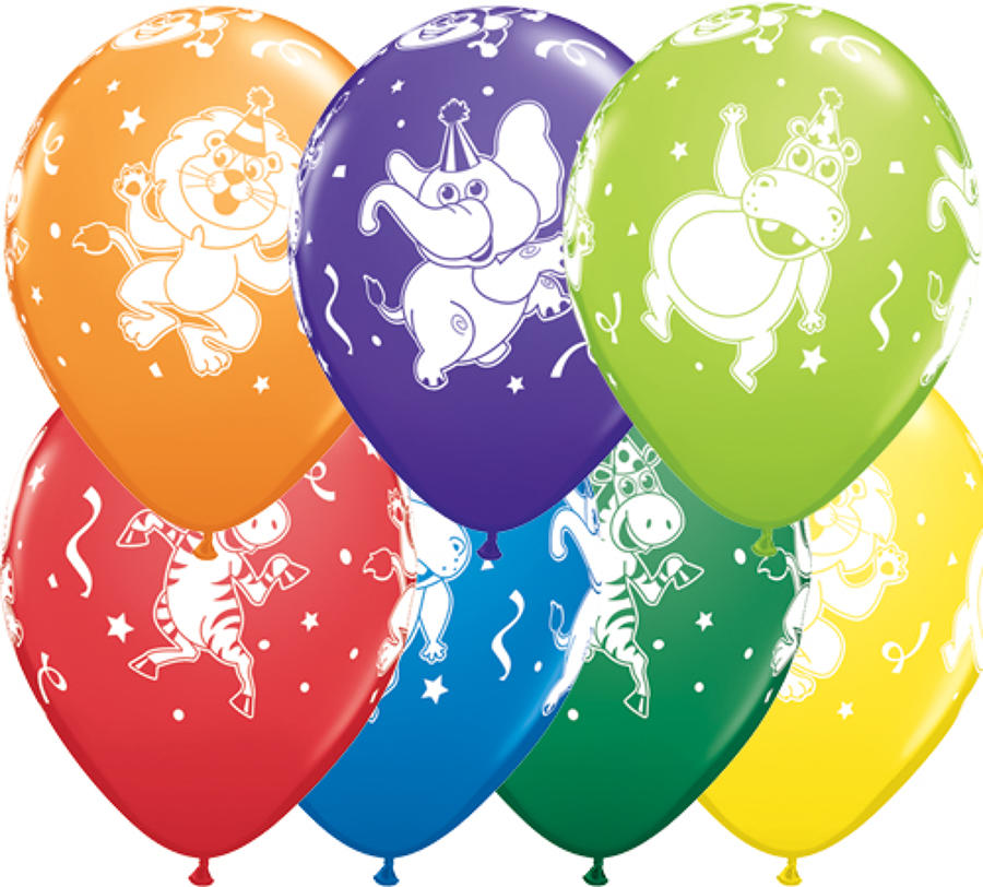 Party Animals Latex Balloons