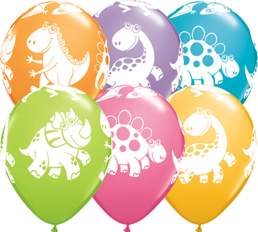 Cute and Cuddly Dinosaurs Latex Balloons