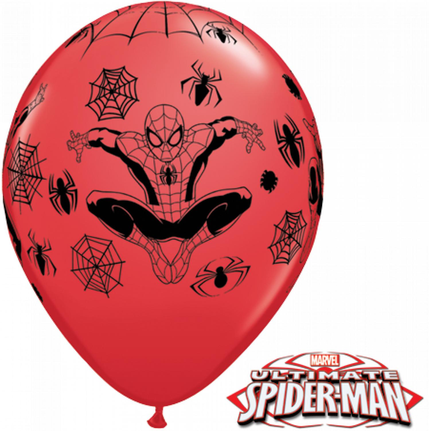 Spiderman latex balloons
