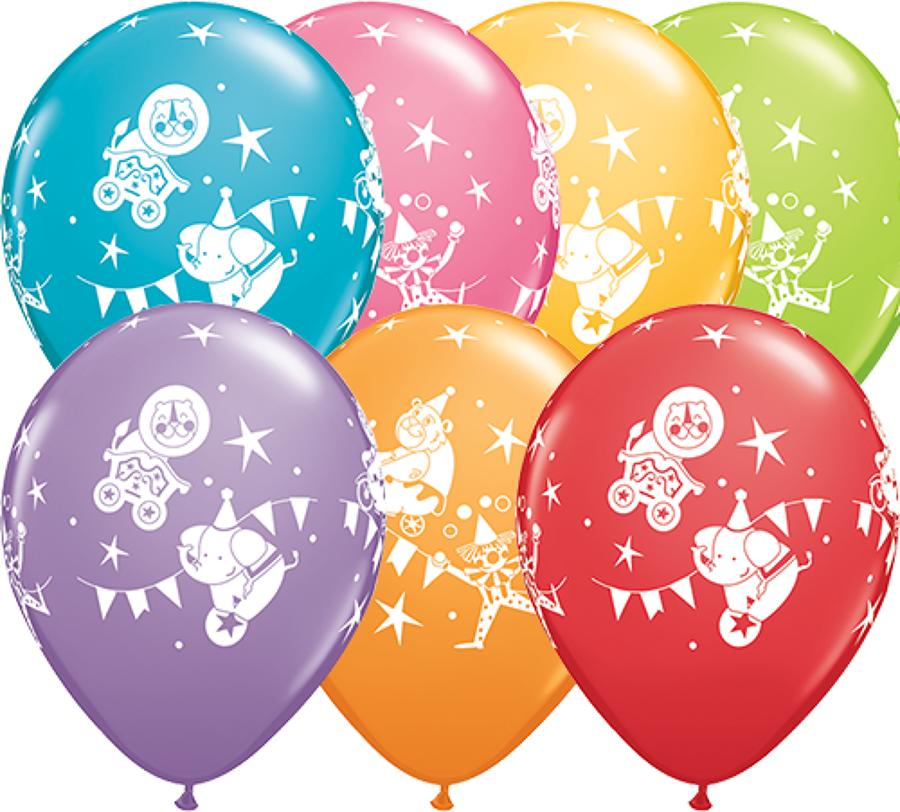 Circus Parade Latex Balloons