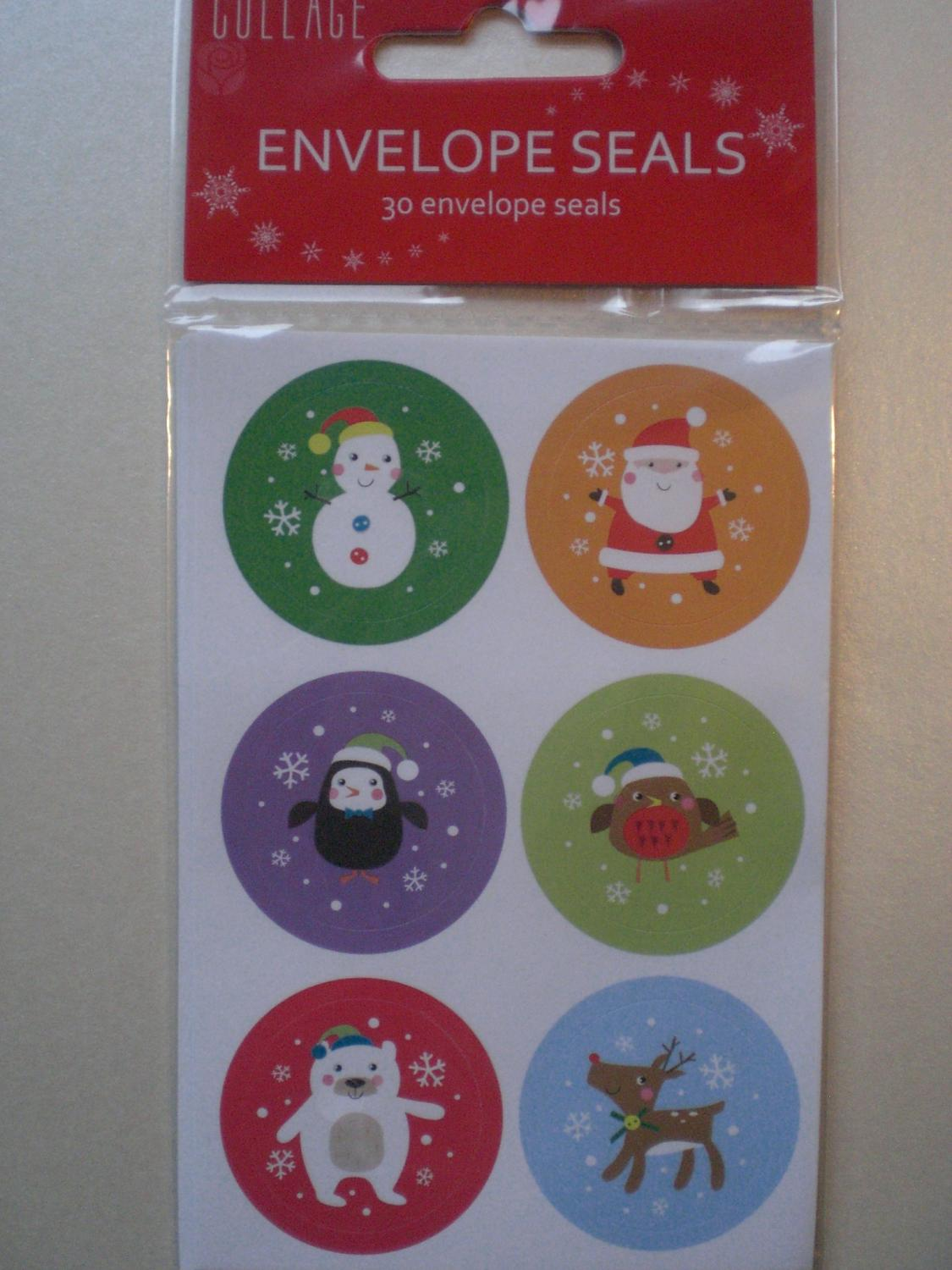Christmas envelope Stickers