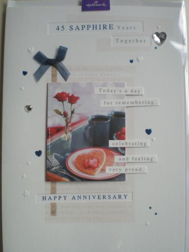 sapphire anniversary card in wedding anniversary and engagement cards