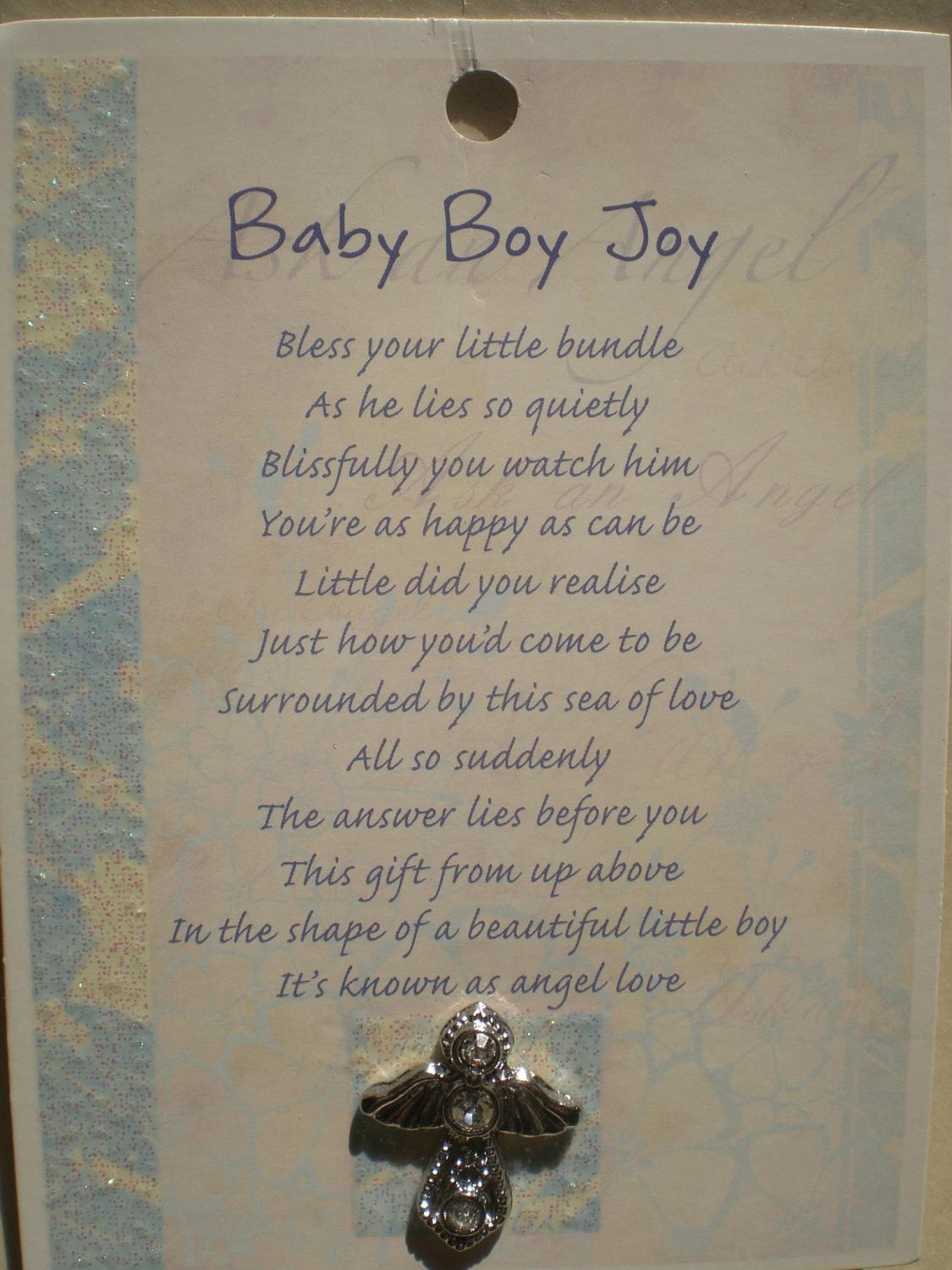 Baby Boy Joy Angel (silver)