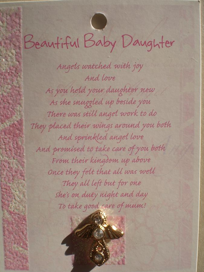 Baby Daughter Angel (gold)