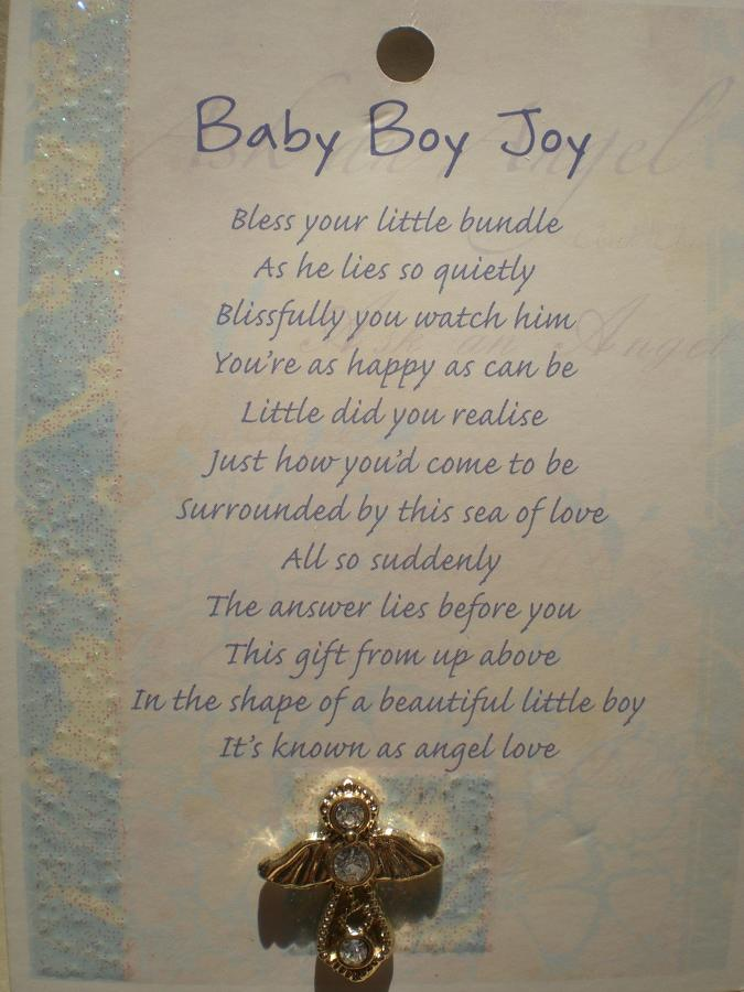 Baby Boy Joy Angel (gold)