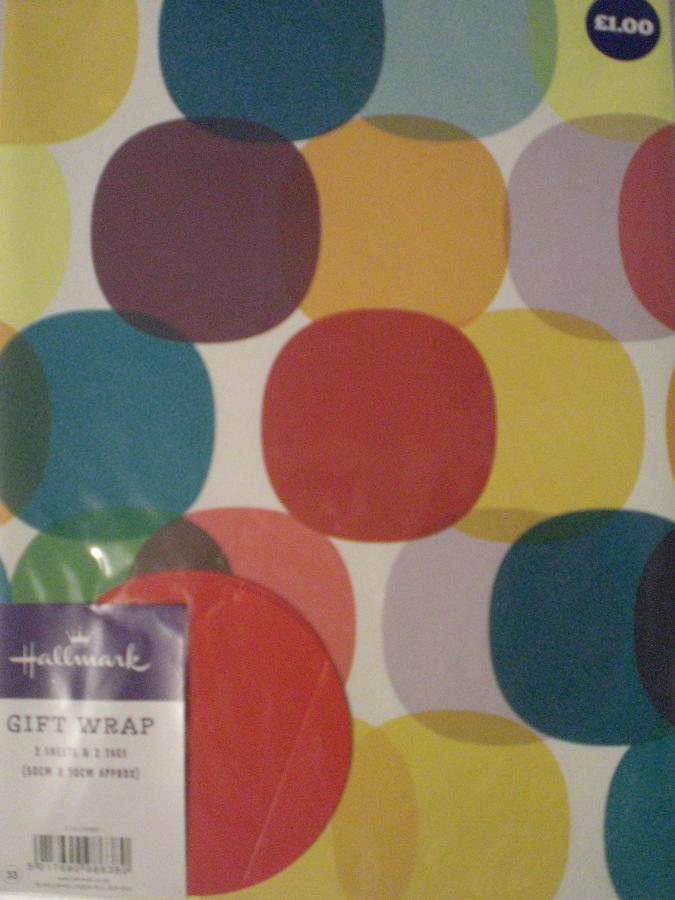 Gift Wrap Multi-Coloured Spots