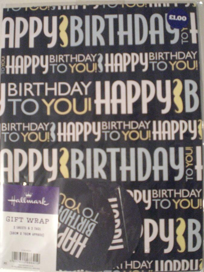 Gift Wrap Male Happy Birthday