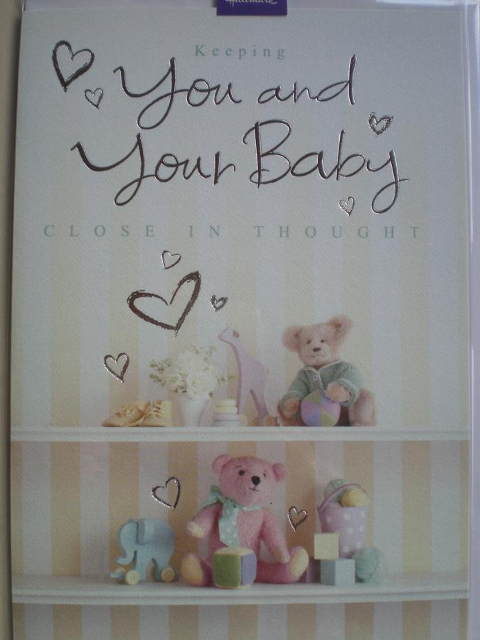 New baby caring thoughts card