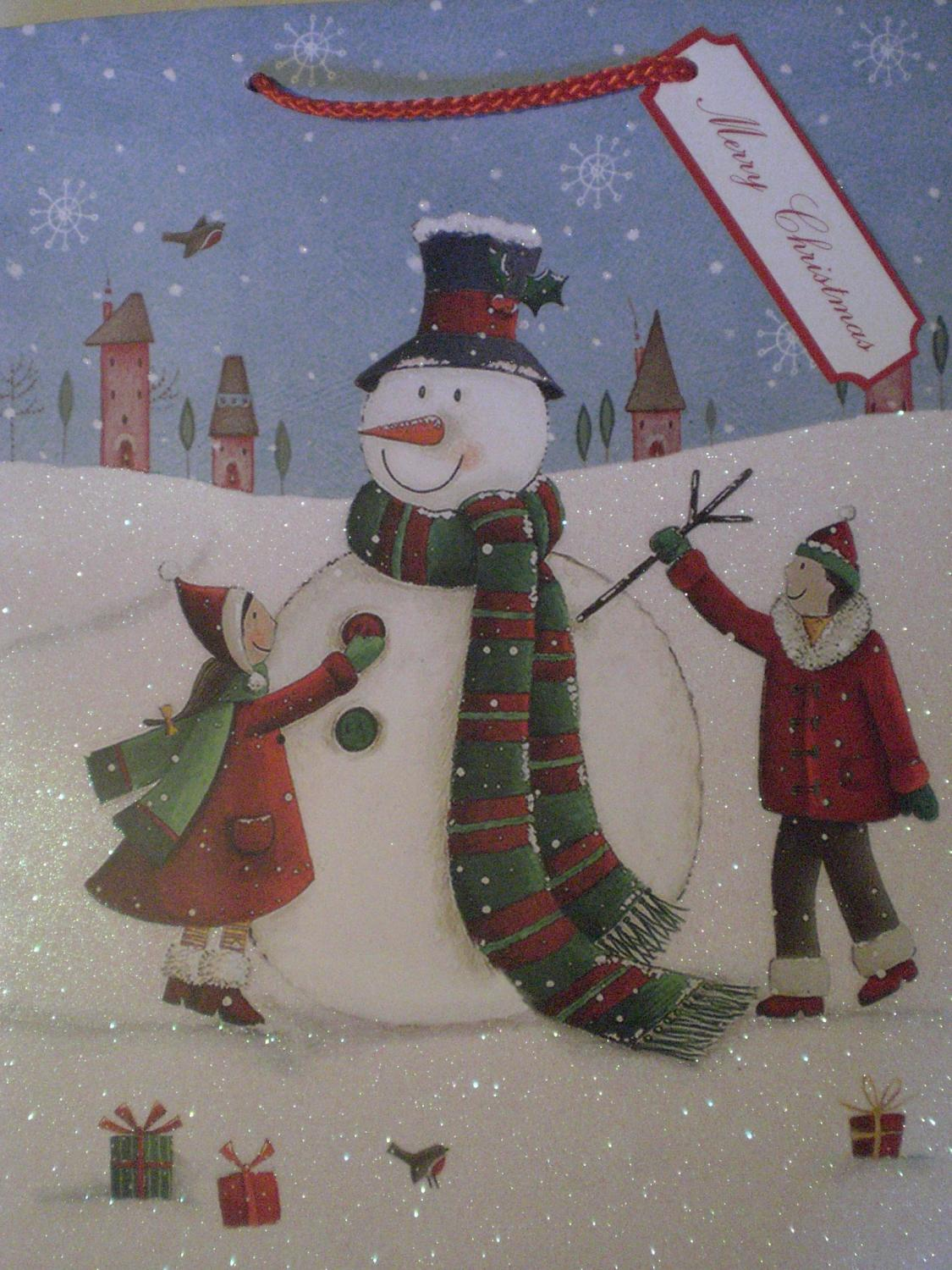 Gift Bag Large Snowman