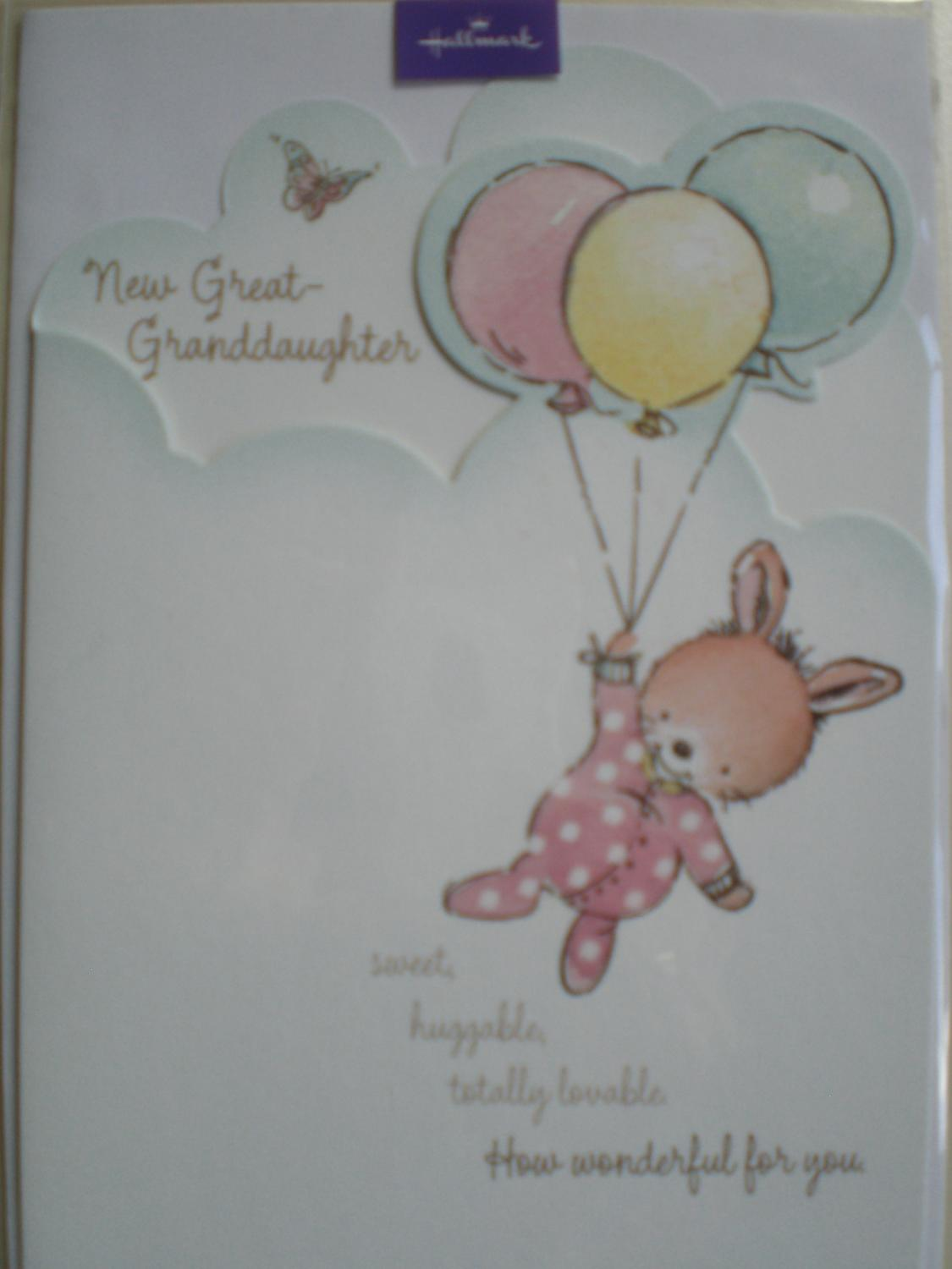 New great granddaughter card