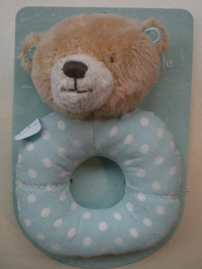 Little blue bear first rattle