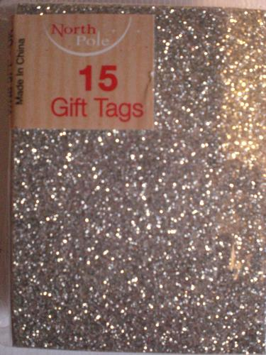Gift tags silver glitter