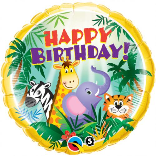 Jungle birthday foil balloon
