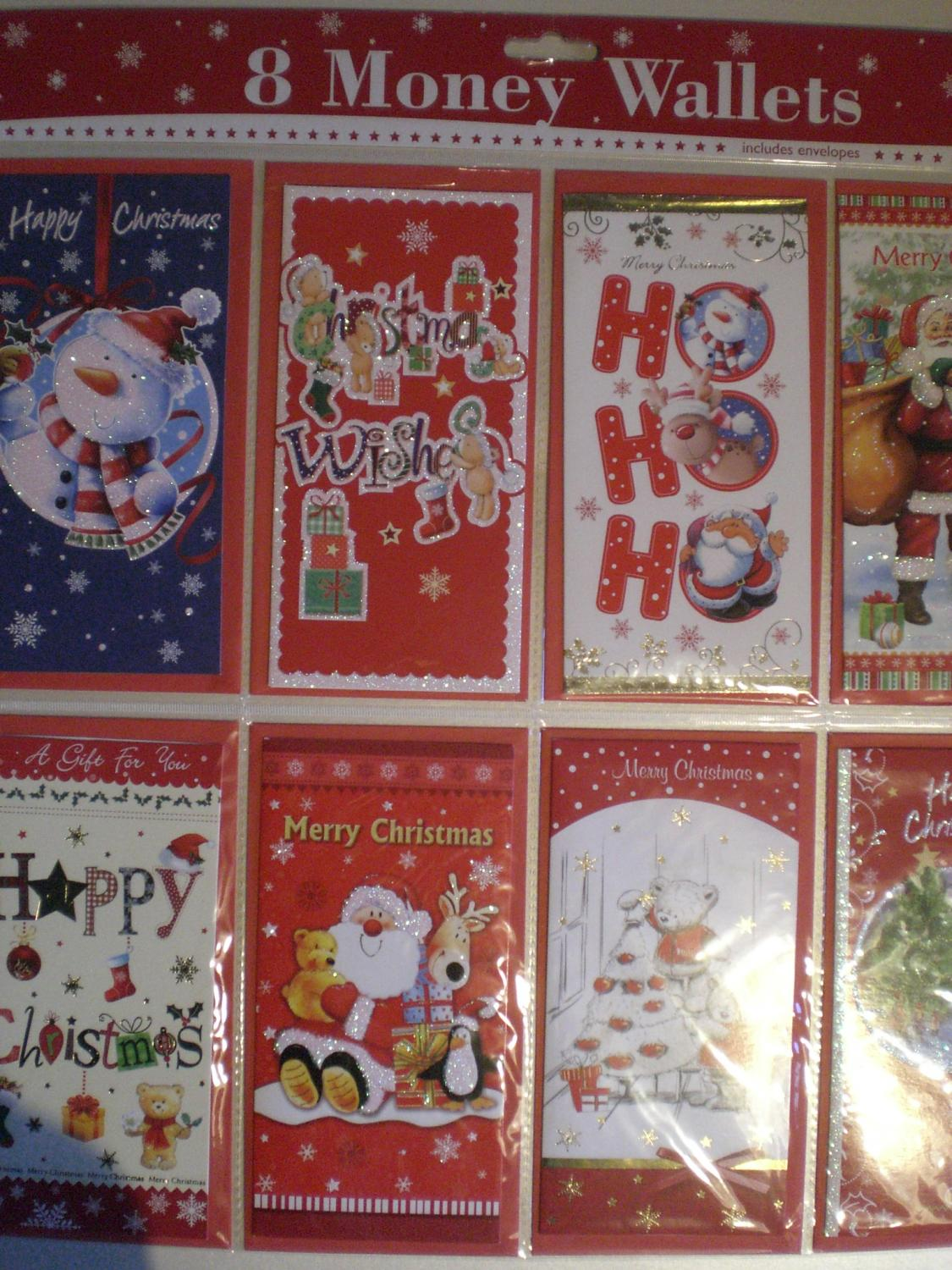Christmas money wallet multipack