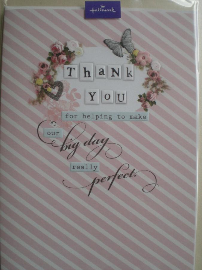 Wedding day thank you card