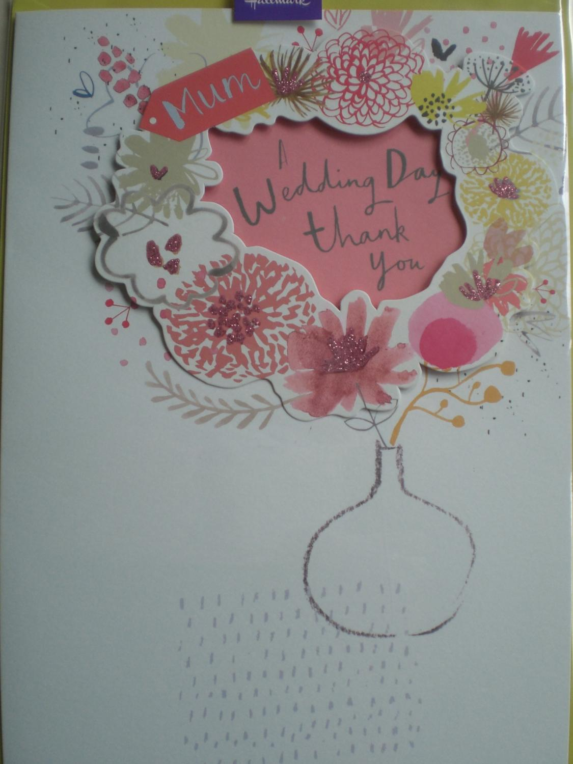 Wedding day thank you mum card