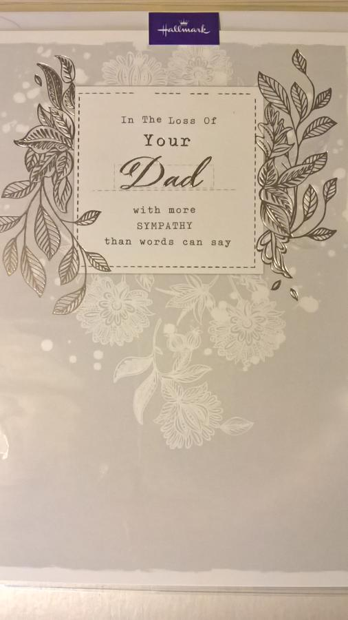Loss of your Dad sympathy card