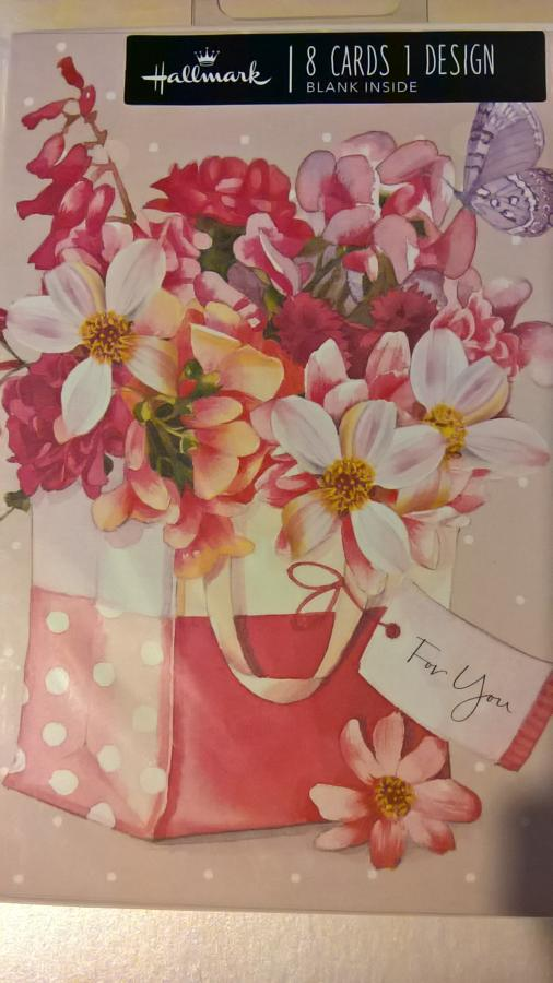 Pink floral notecards