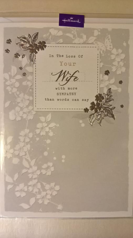 Loss of your Wife sympathy card