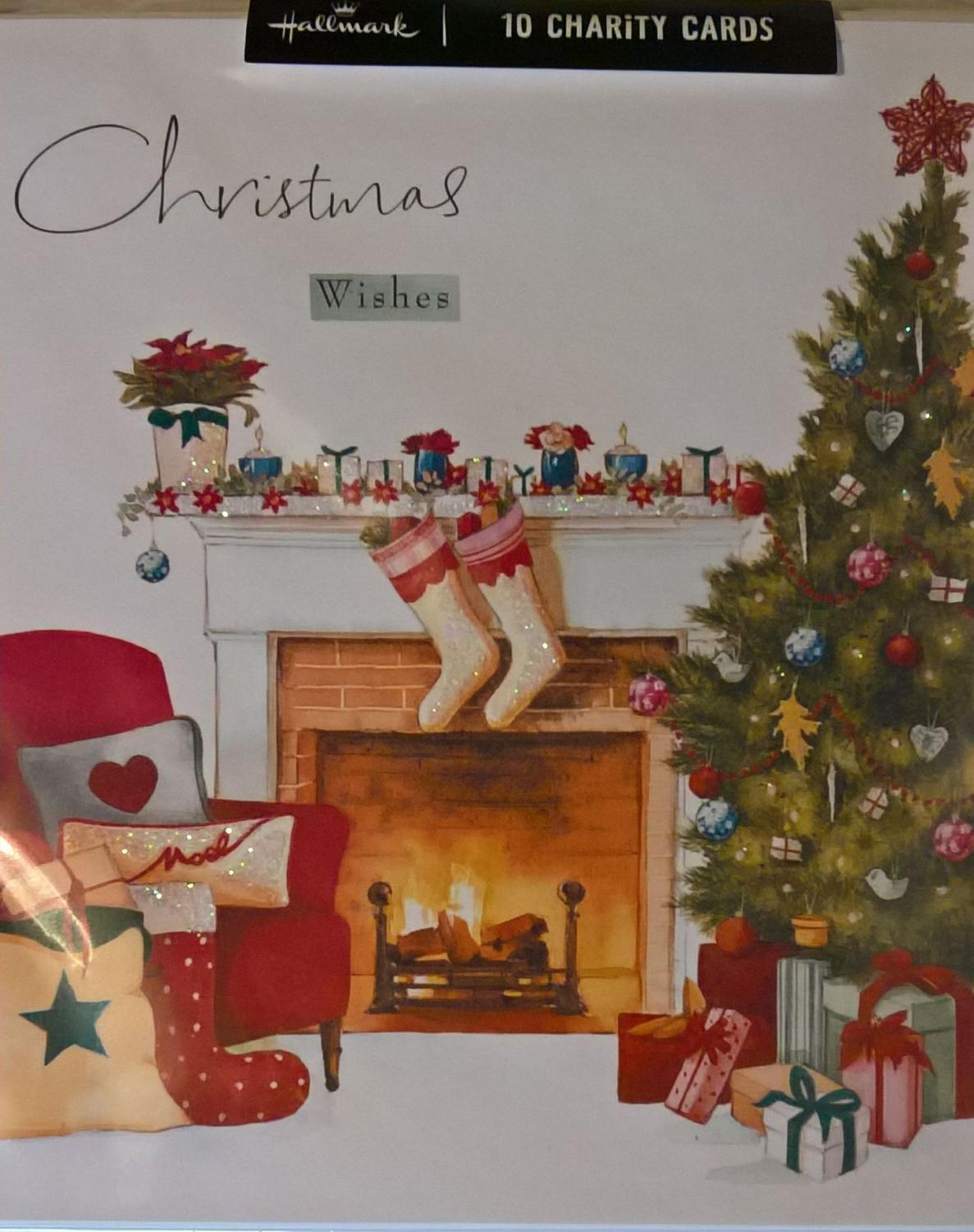 Pack of fireside christmas charity cards