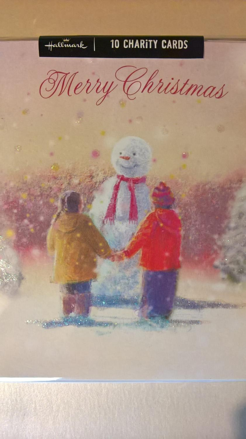 Pack of snowan Christmas charity cards