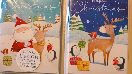 Pack of mini Christmas cards