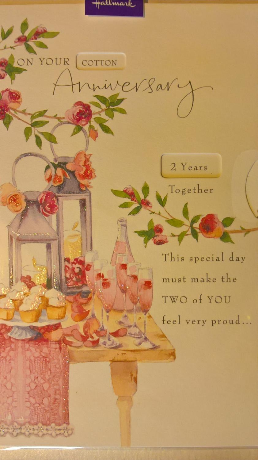 Anniversary card with year wheel
