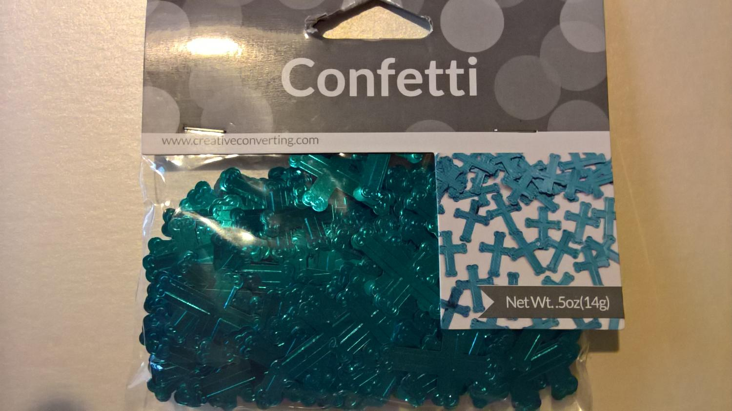 Cross confetti blue
