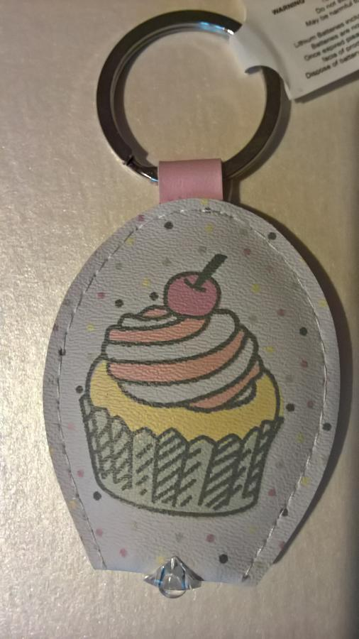 Light up keyring cupcake