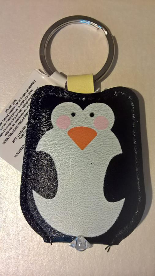 Light up keyring penguin